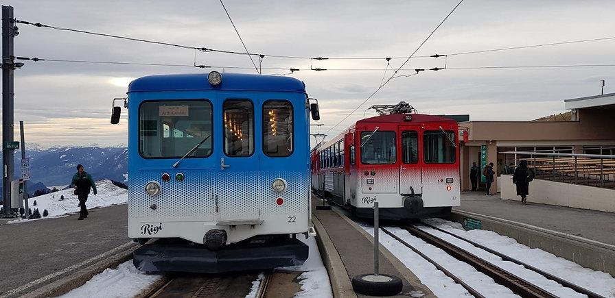 The two cogwheel trains- Mount Rigi