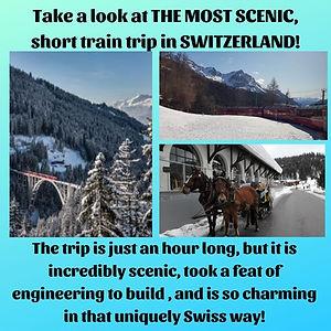 POSTER- BEST MINI TRAIN TRIP -SWITZERLAN