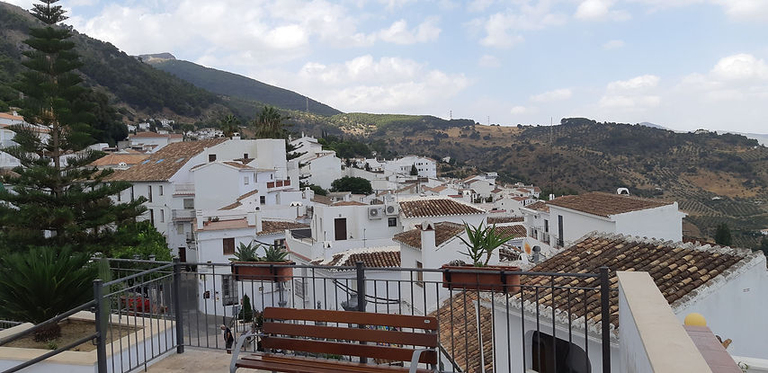 View from our Airbnb at Casarabonela Spain