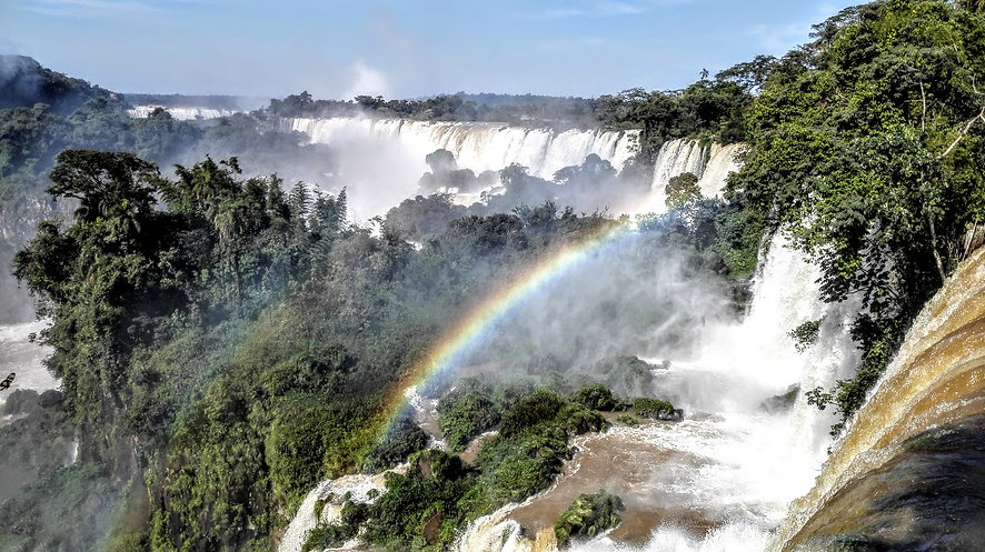 Iguazu Falls with rainbow. Sensational!.