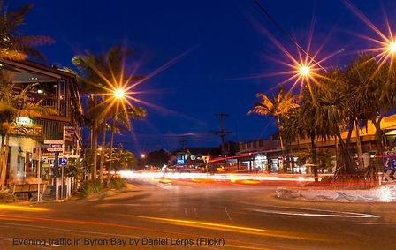 Evening traffic in Byron Bay by Daniel L
