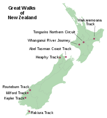 Great walks of nz. (Wikipedia)