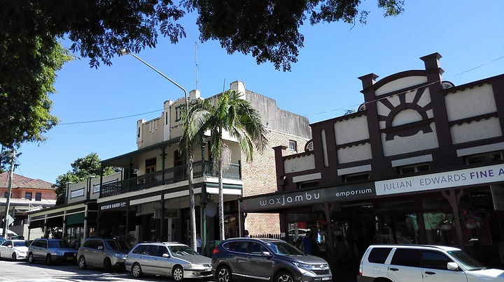 Bangalow main street & historic shops
