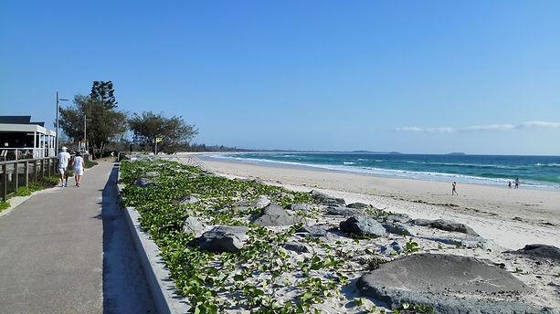 Beach walk at Kingscliff Beach