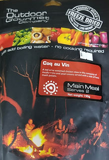 Dehydrated gourmet meals