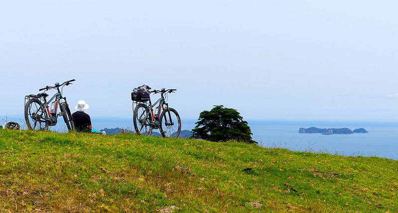 E mountain bike riding