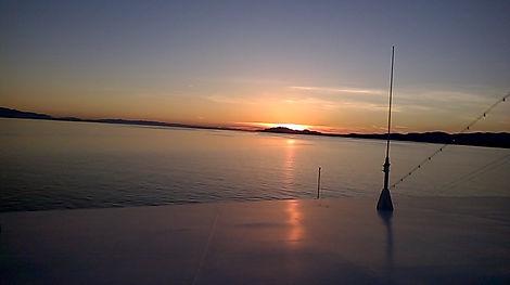 Sunset on day 1 of Alaskan cruise.
