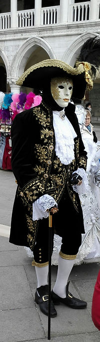 Traditional style Carnival costume in Venice