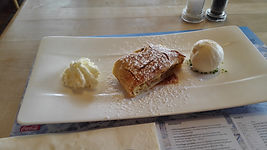 Apple strudel at Murren, Switzerland