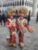 Colourful couple at Venice Carnival!