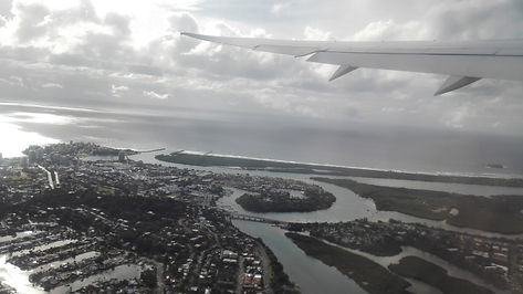 Fying out of  Gold Coast