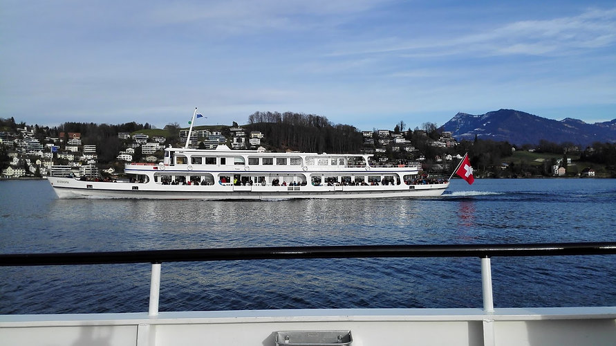 Lake Lucerne boat ride to Vitnau