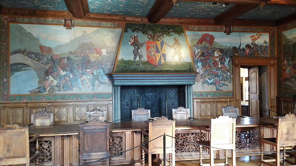 Inside the Gruyere castle
