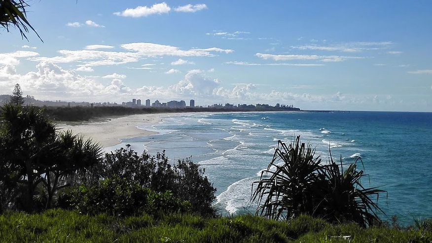 View from Fingal Head to Colangatta