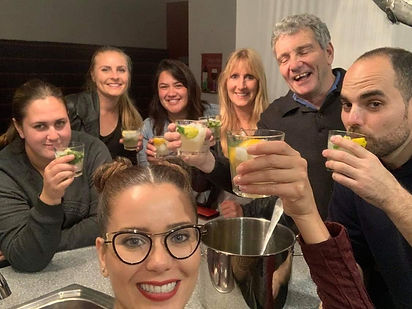 Making our world famous mojitos (or so w