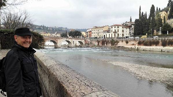 Travel Verona, Italy.  The Ponte Pietra in Verona.