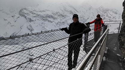 Tight rope section Thrill Walk Schilthorn