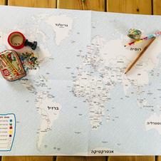 מפת העולם לצביעה