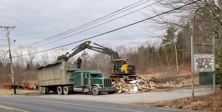 The buildings are being taken down. 4/12/2019