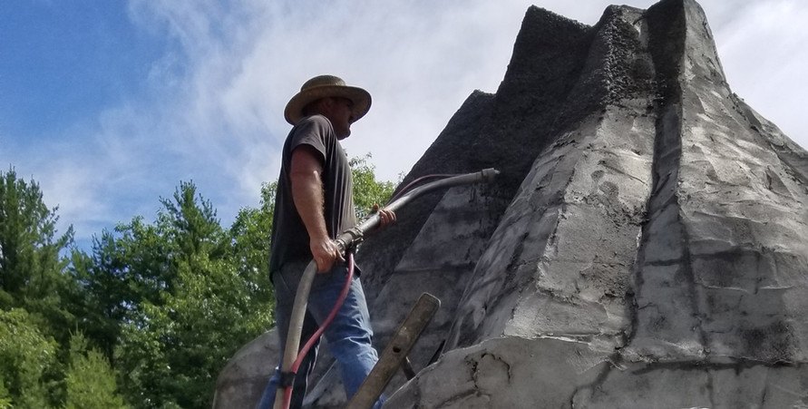"""Remember the movie """"Joe Versus the Volcano""""? This is Joe, he's building our volcano. 7/08/2019"""