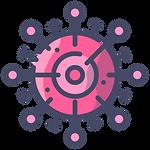pink corona virus icon