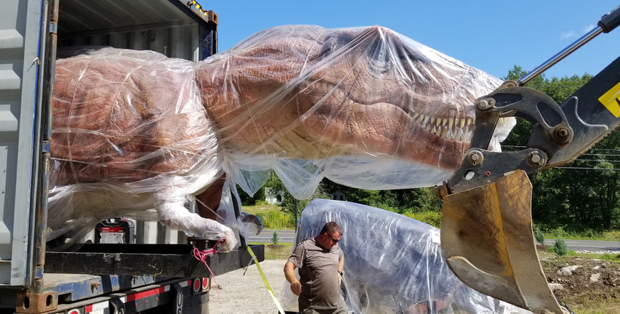 T-Rex coming off the truck.