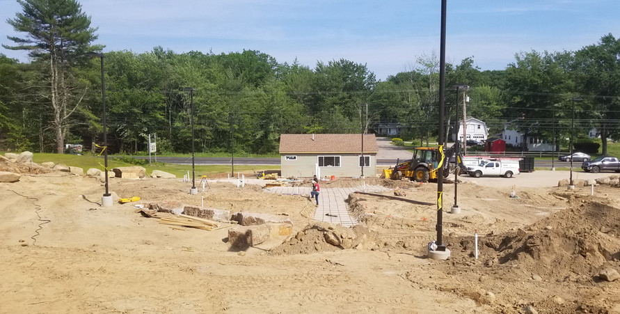 The lower pond being built. 7/05/2019