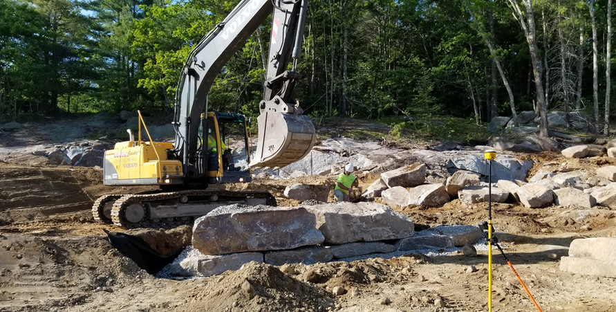 Troy building our retaining wall, Troy is awesome! 6/10/2019