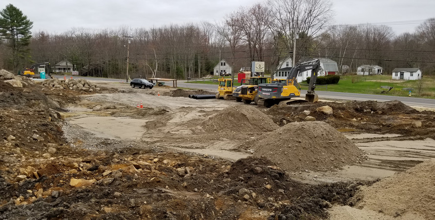 Wood's Excavating Company getting started on our parking lot. 5/5/2019