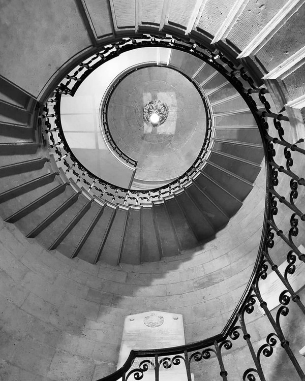 Staircase in Worcester College in Oxford