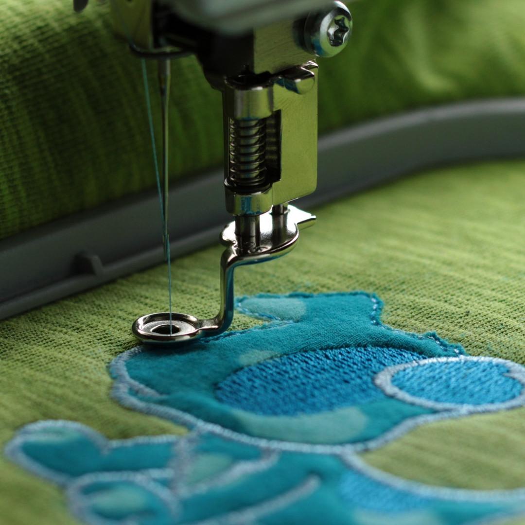 Textilstick mit Tieren