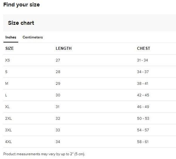 size guide Unisex T-shirt chart.JPG