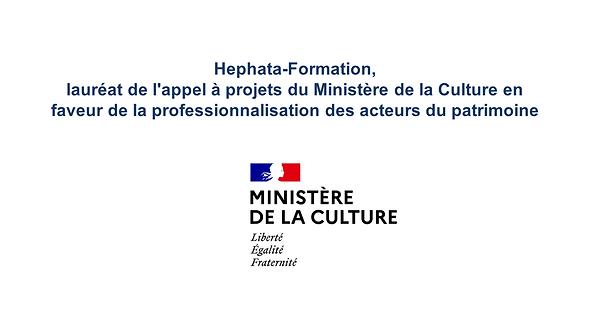 Hephata Formation Ministère de la Culture