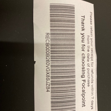 Septembers prize winning receipt number