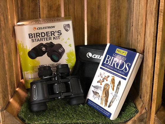 Celestron Birder Starter kit including 7x35 Binoculars and a Philips Bird Guide