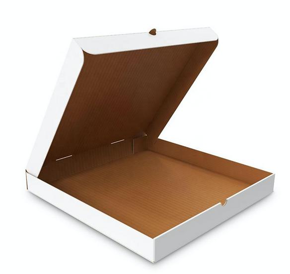 Pack Cajas de Pizza Blanca M (50 unidades)