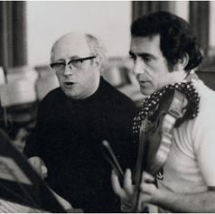 Rodney Friend with Mstislav Rostropovich