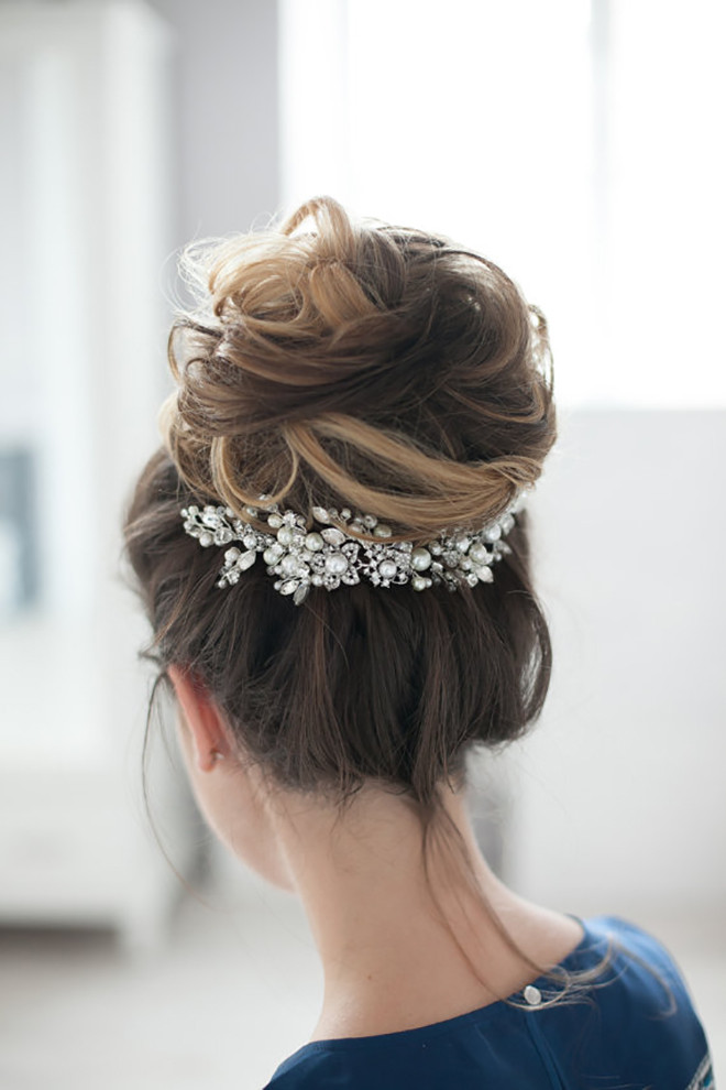 bridal hair comb accessory #crystalhairaccessory
