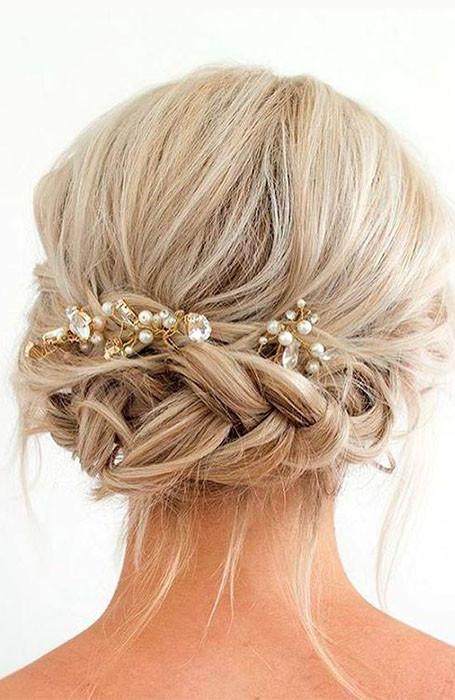 short hair wedding fishtail braid wedding hair accessory