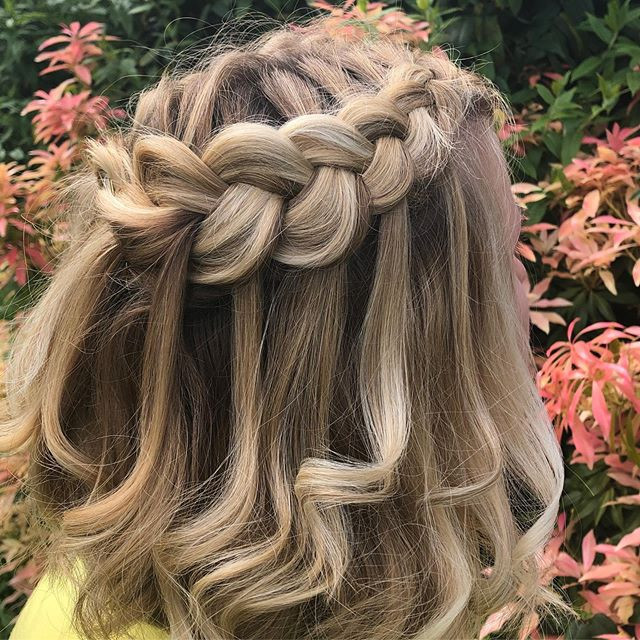 waterfall braid wedding hair brides hairstyles