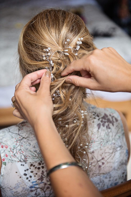 boho wedding hair loose braid hair vine wedding hair accessory