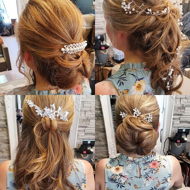 wedding hair hairstyles brides updo half up half down