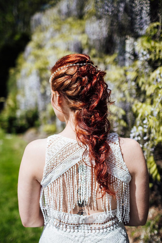 long wedding hair braid