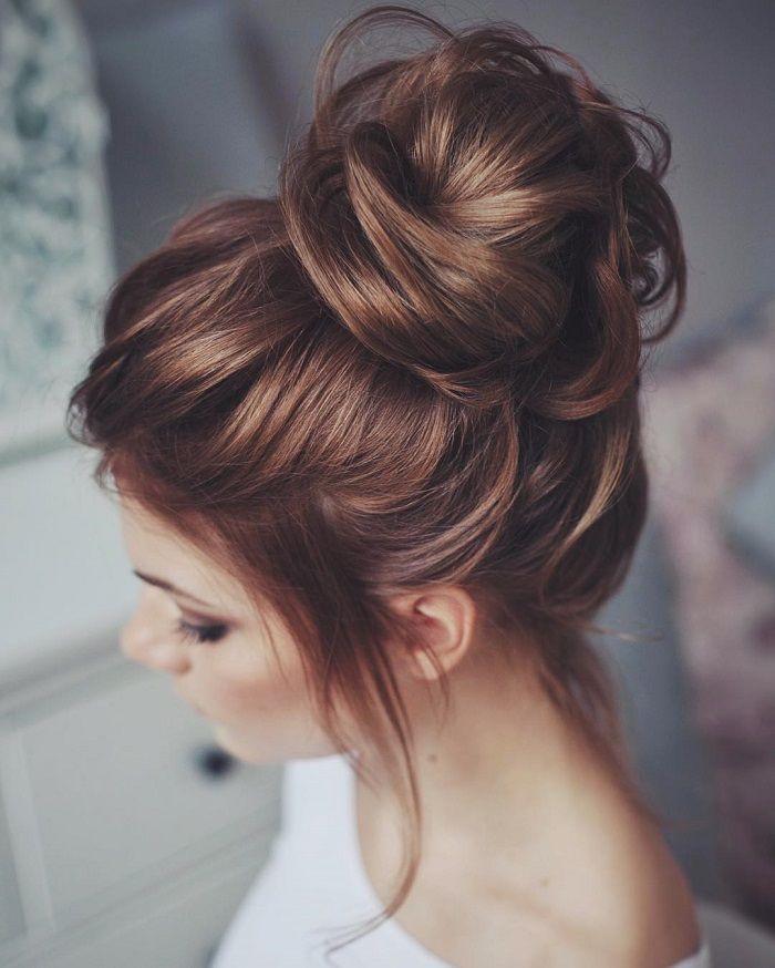 messy bun wedding hair