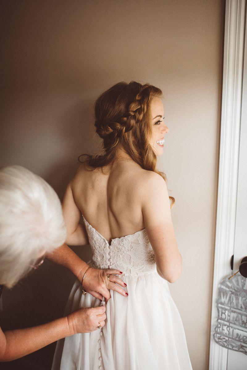 waterfall braid wedding hair bride hairstyle boho