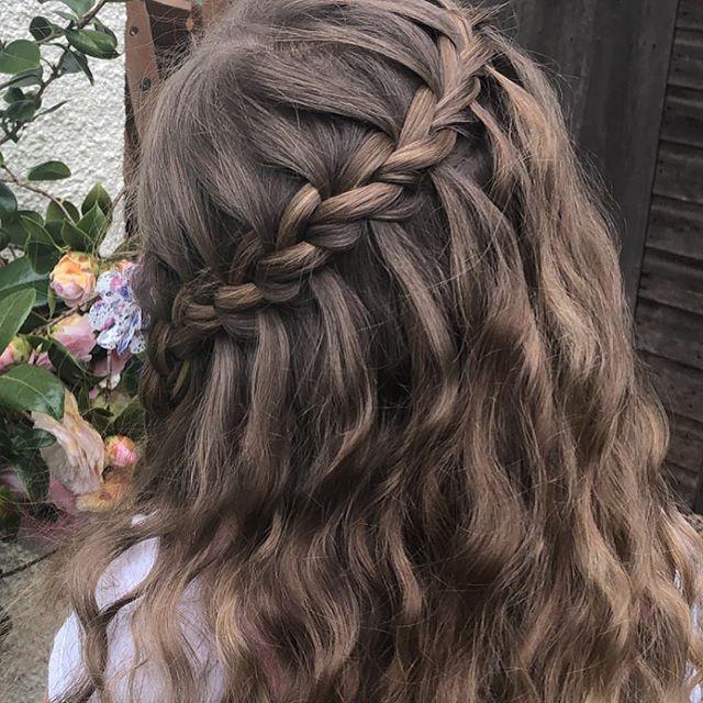 waterfall braid wedding hair bridesmaids