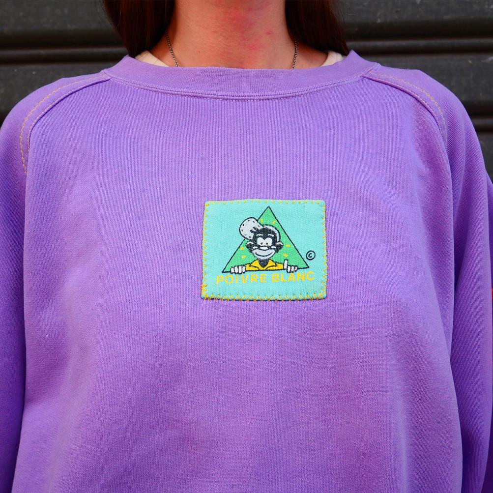 Vintage Sweatshirt Poivre Blanc - 1989
