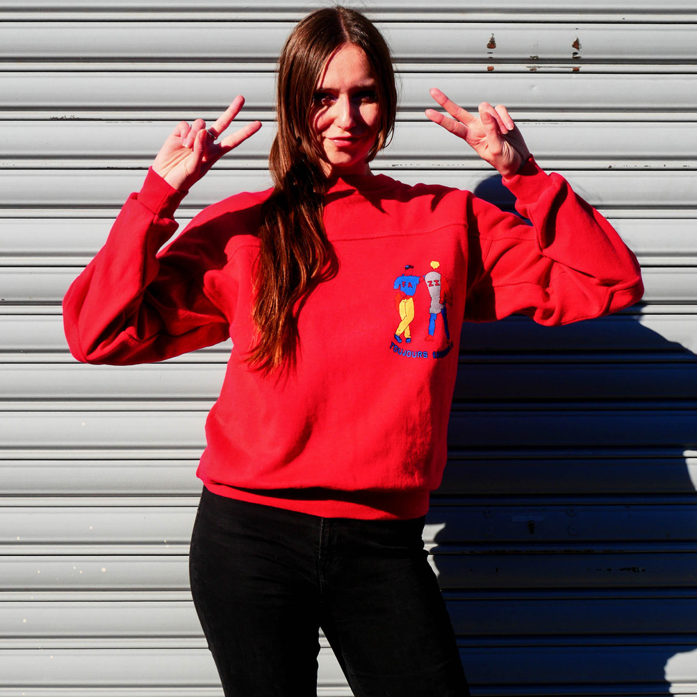 "Vintage french 'Fenzi"" sweatshirt from the 80's"