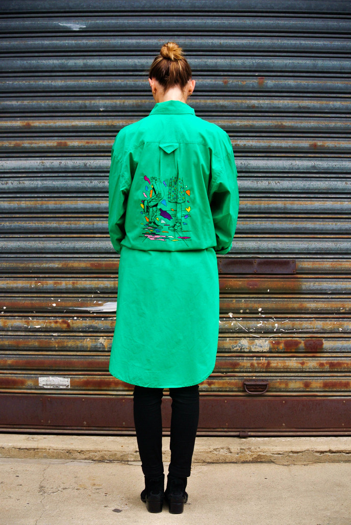 """Overgreen"" Oversize Shirt - Pain Melon"
