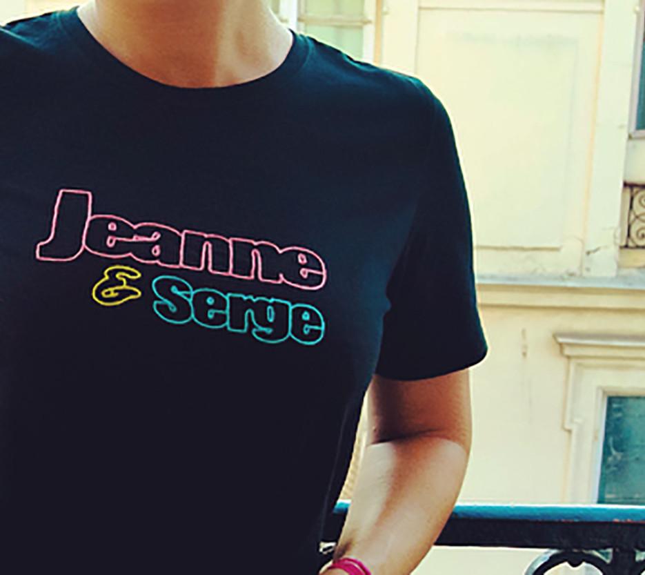 """Jeanne & Serge"" T-shirt - Pain Melon"